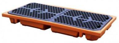 Kingspan Plancher technique pour 2 fûts, orange, capacité 112l Kingspan SDW00112OR_2D