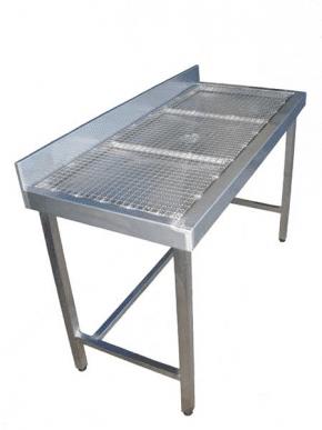 ACMA Table avec grillage maille 20/20 entièrement inox 18/10 pieds reglables ACMA TAB007