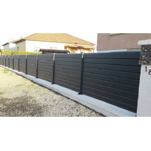 L1m80 x H470mm - Clôture aluminium en kit - Publicité