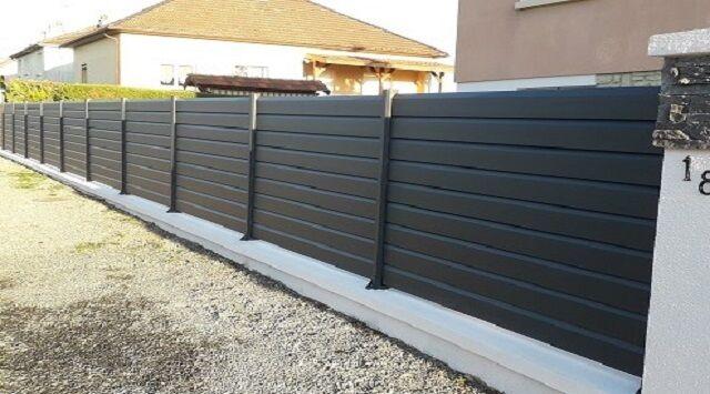 L1m80 x H605mm - Clôture aluminium en kit