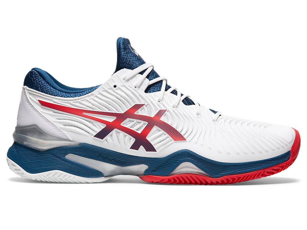 Asics Court FF™ 2 Clay White / Mako Blue Hommes Taille 42