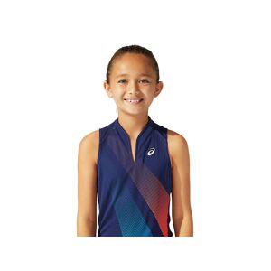 Asics Girls Tennis Graphic Tank Peacoat Enfants Taille M - Publicité