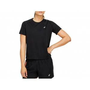 Asics Icon Ss Top Performance Black / Carrier Grey Femmes Taille XL - Publicité