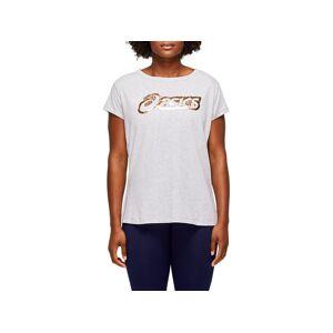 Asics Logo Graphic Tee Mid Grey Heather Femmes Taille XS - Publicité