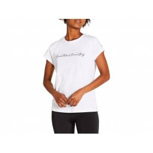 Asics Graphic Tee I Brilliant White Femmes Taille S - Publicité
