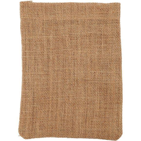CREOTIME Lot de 4 petit sacs en toile de jute 15x20 cm 275 g/m2