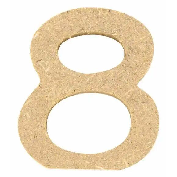 C TOP Chiffre 8 à décorer en bois 5cm
