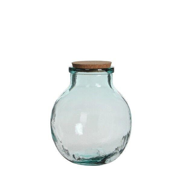 MICA Terrarium bocal en verre avec bouchon en liège Olly 25x21cm