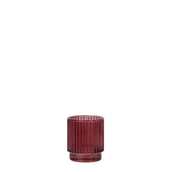 . Photophore rouge 8x7cm