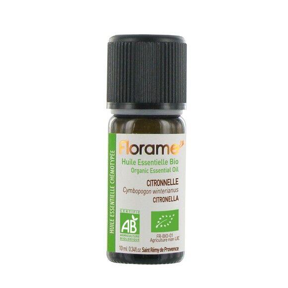 FLORAME Huile essentielle biologique citronnelle 10ml