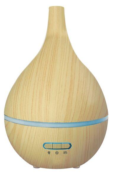 . Diffuseur huiles essentielles bois lumineux en forme poire