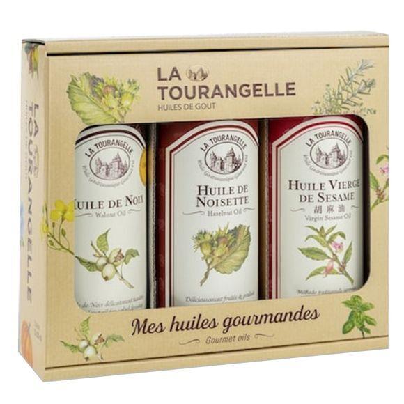 LA TOURANGELLE Trio d'Huiles de Noix, Noisette, Sésame 250ml