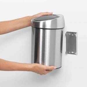 BRABANTIA Poubelle touchbin en acier brossé 3 litres - Publicité