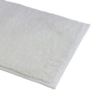 ZODIO Tapis de bain 40x60cm en microfibre chenille blanc