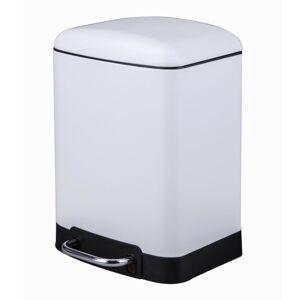 ZODIO Poubelle de salle de bain rectangulaire blanc 6L - Publicité