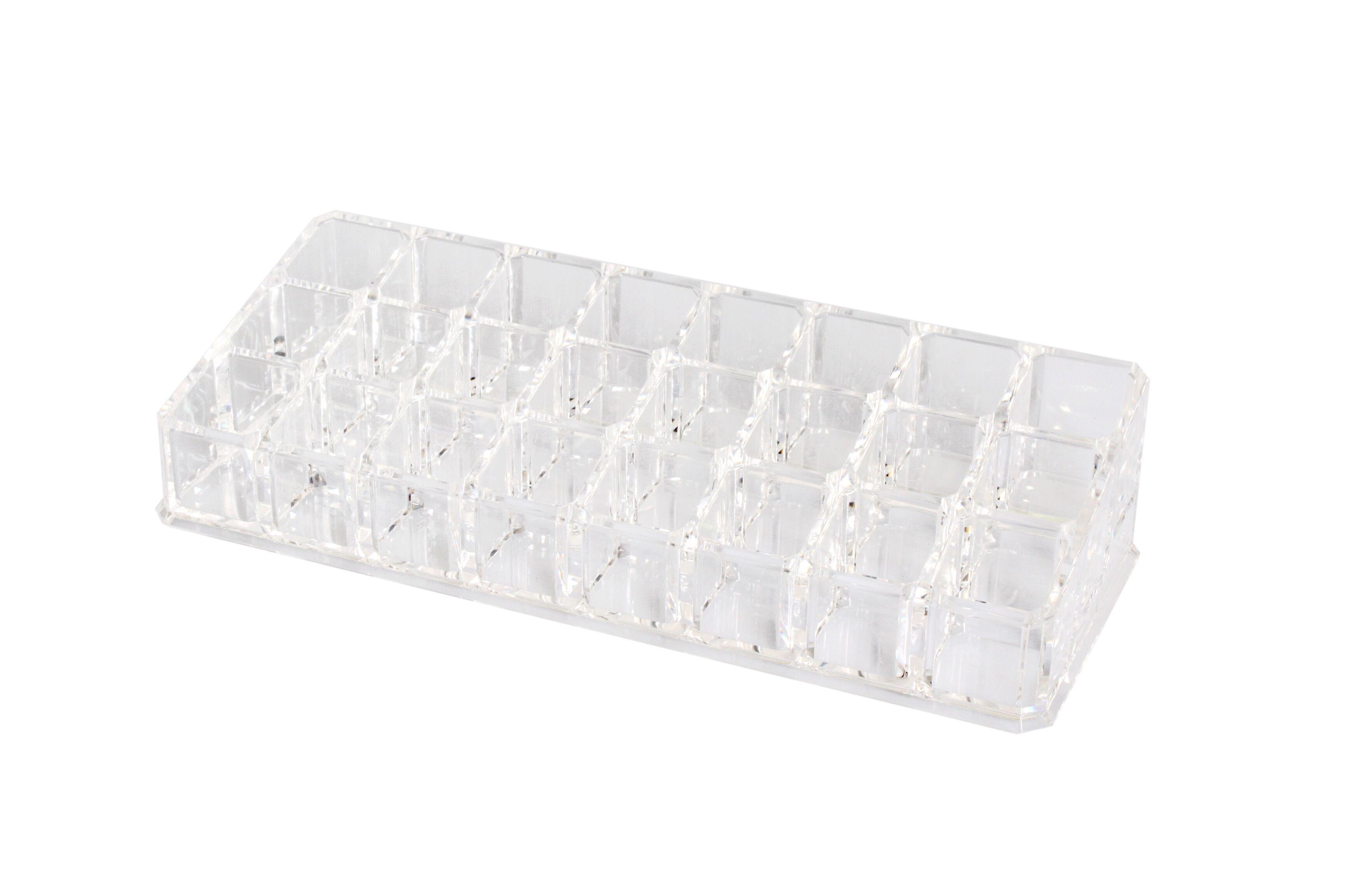 . Soldes - Porte rouge à levres transparent 24 compartiments