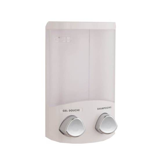 . Distributeur de savon liquide mural blanc Duo
