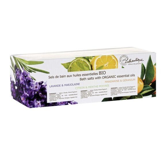 LOTHANTIQUE Soldes - Coffret sels de bain aux huiles essentielles BIO
