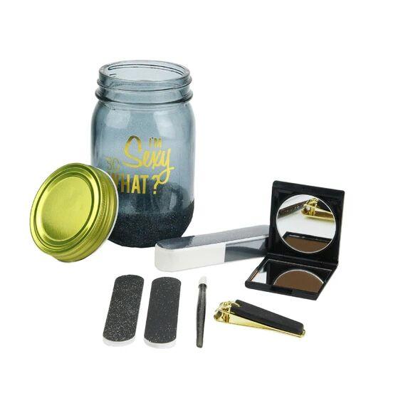 . Soldes - Coffret jar beauté 6 pièces noir