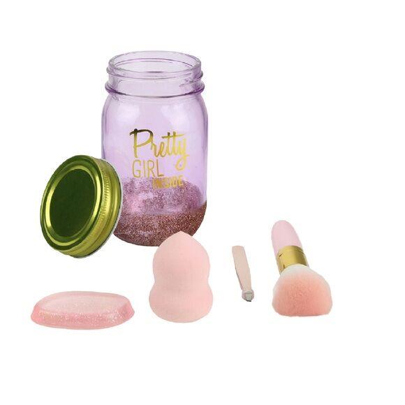 . Soldes - Coffret jar beauté 4 pièces rose