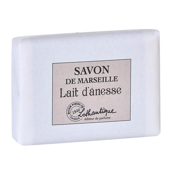LOTHANTIQUE Pain de savon de marseille parfum Lait d'ânesse 100g