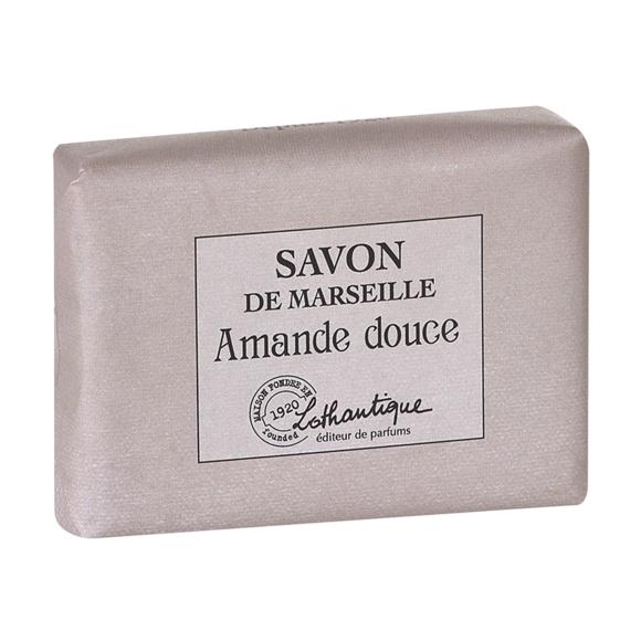 LOTHANTIQUE Pain de savon de marseille parfum Amande douce 100g