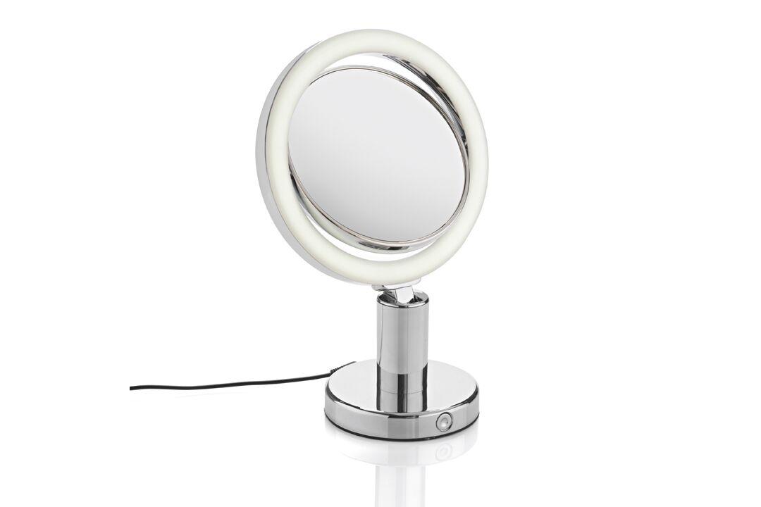 . Miroir grossissant lumineux rond double face X7 19cm