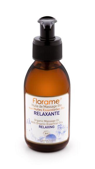 FLORAME Huile de massage bio relaxante 120ml