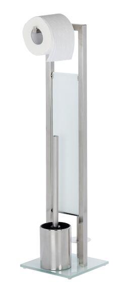 WENKO Valet avec porte brosse dérouleur et porte papier toilette