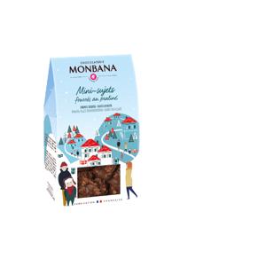 MONBANA Mini sujets noël chocolat noir fourré praline - Publicité