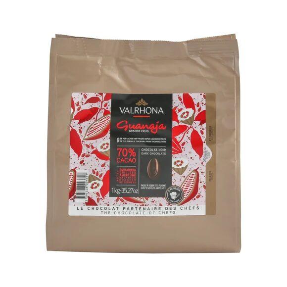 VALRHONA Sac fèves chocolat de couverture noir Guanaja 70% 1KG