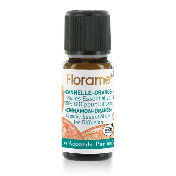 FLORAME Composition huiles essentielles bio cannelle orange 10ml