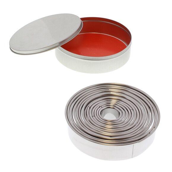 PATISSE Set de 14 emporte-pièces ronds lisses en inox de 3,5 à 11cm