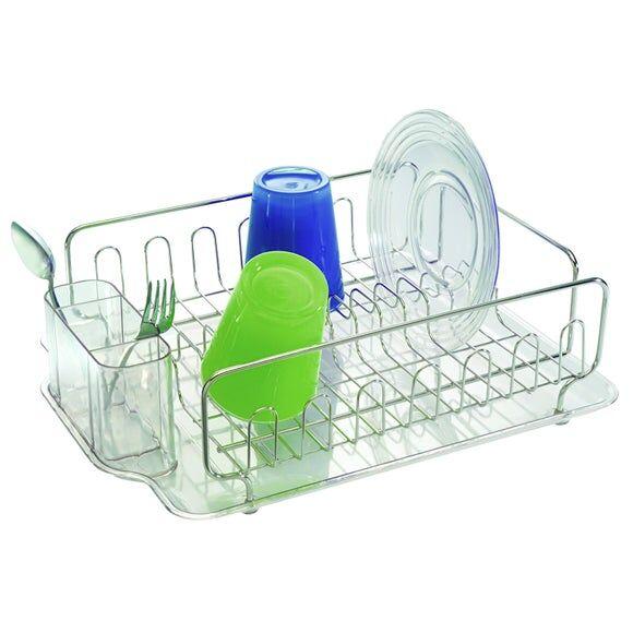 INTERDESIGN Égouttoir à vaisselle en inox et plastique