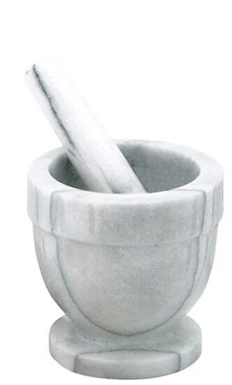 . Mortier avec pilon en marbre 10cm