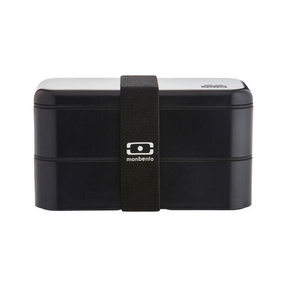 MON BENTO Boite hermétique 2 compartiments noir Bento 1L