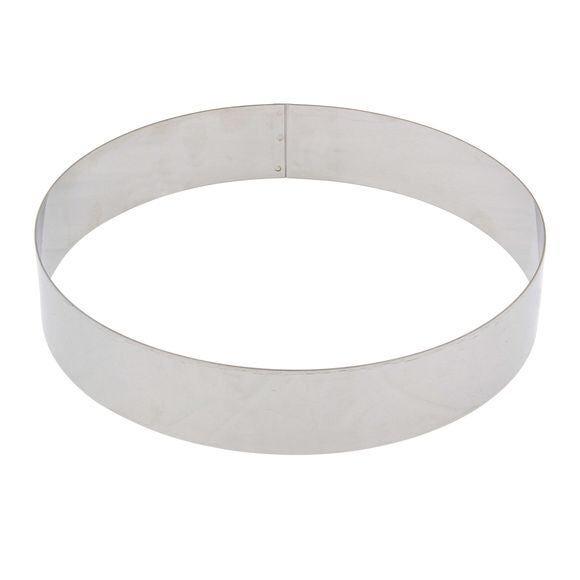 DE BUYER Cercle à pâtisserie en inox 28cm, haut 4,5cm