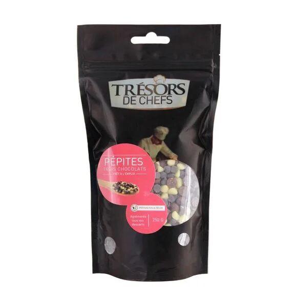 TRESOR DES CHEFS Pépites aux 3 chocolats 250g