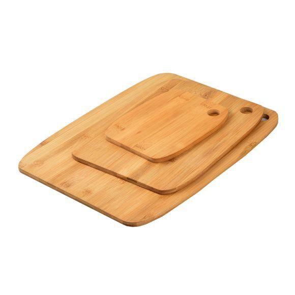 OH! Set 3 planches à découper bambou 37x28, 28,5x21,5 et 18,5x14