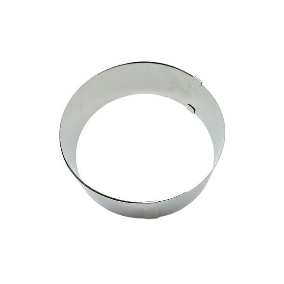 . Cercle à pâtisserie extensible en inox 18-30cm haut 6cm