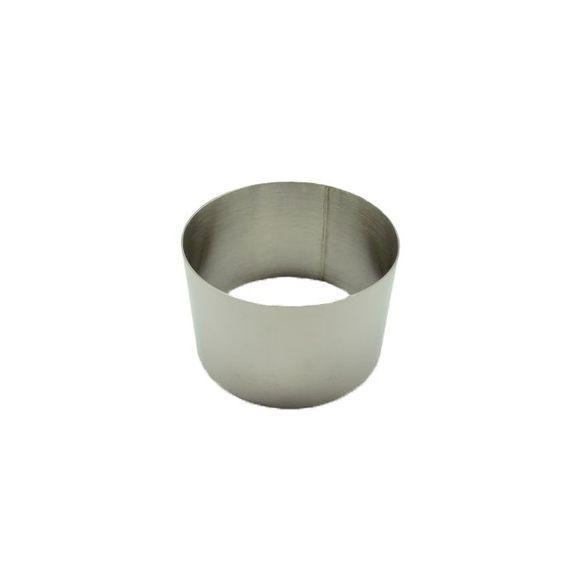 . Cercle à pâtisserie en inox 7cm haut 4,5cm