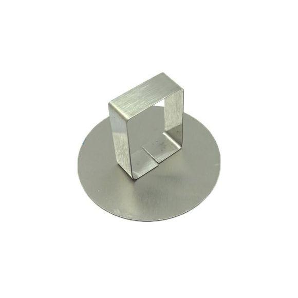 . Poussoir pour cercle à pâtisserie en inox 8 cm