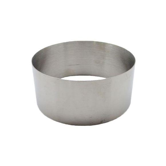 . Cercle à pâtisserie en inox 10cm haut 4,5cm