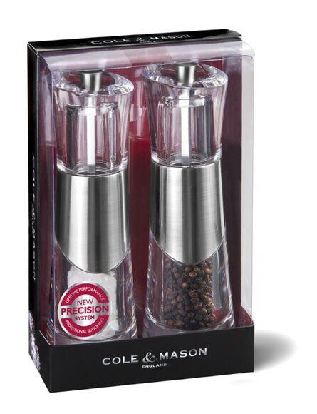 COLE & MASON Coffret moulins sel et poivre Bobbi