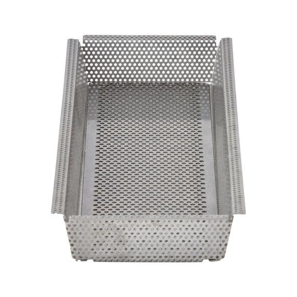 DE BUYER Moule à tarte rectangulaire fond démontable inox perforé 35x3.5cm