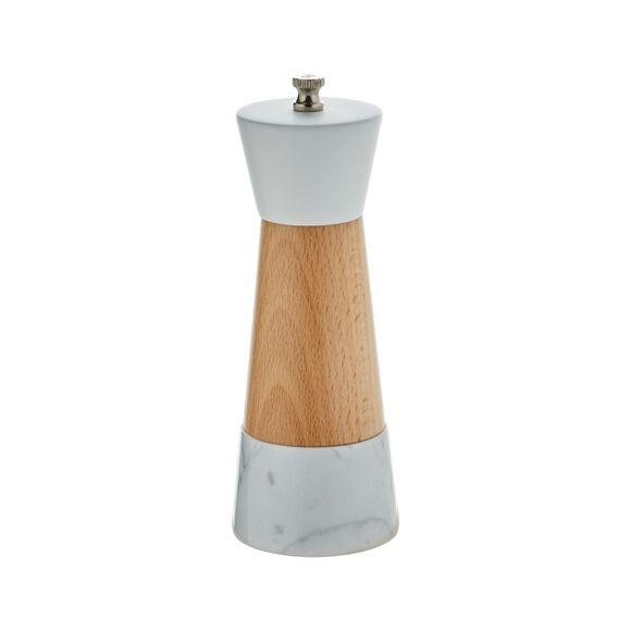 OGO LIVING OGO - Moulin à sel en marbre et bois naturel 17cm