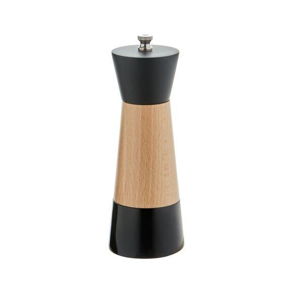 OGO LIVING Moulin à poivre en marbre noir et bois naturel 17cm