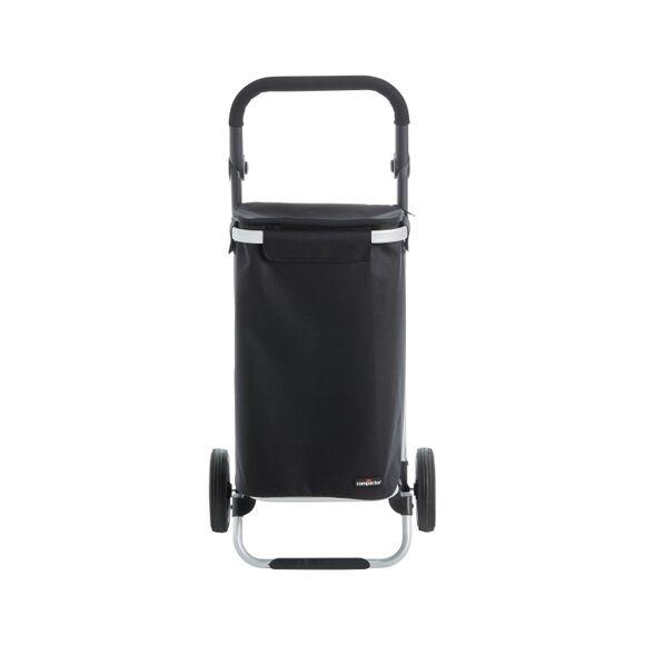 . Chariot de course aluminium avec sac polyester Brooklyn noir