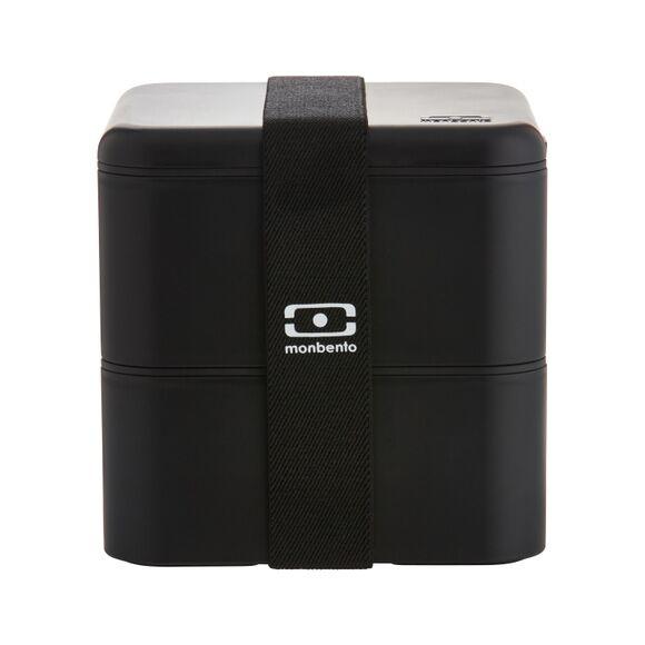 MON BENTO Boite hermétique carrée noir Bento 1L
