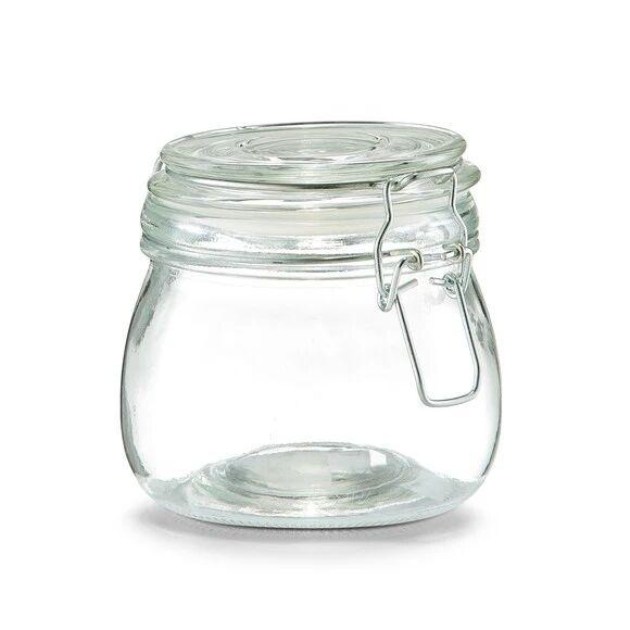 ZELLER Pot de conservation en verre avec couvercle à clip 500ML